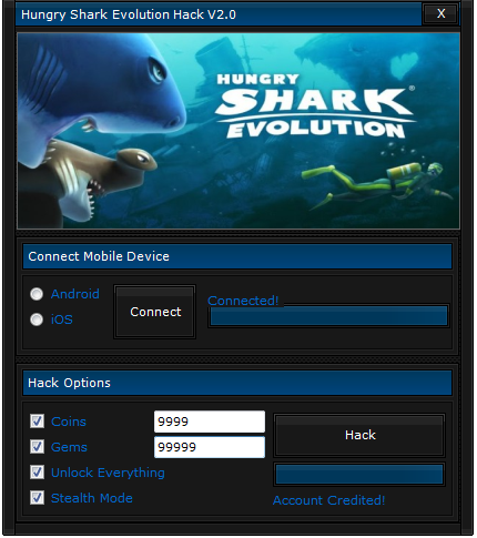 Hungry shark evolution hack android