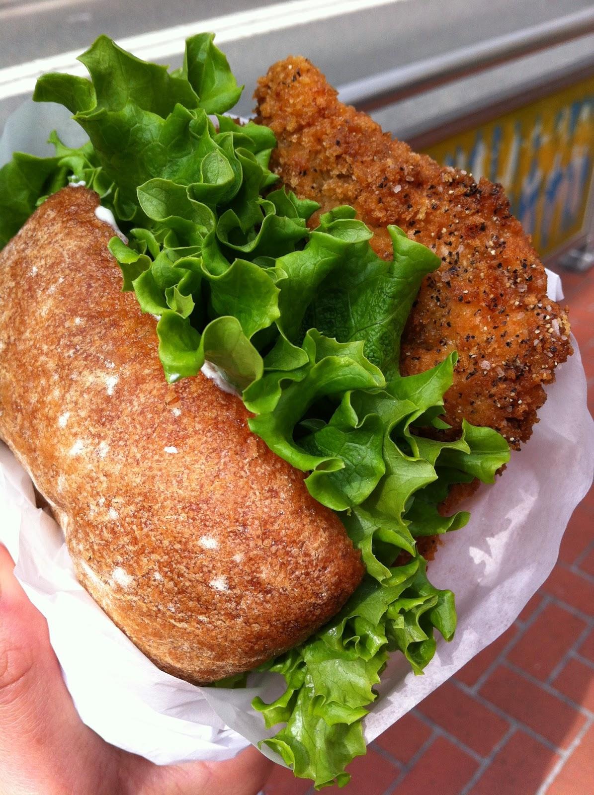 The Original Schnitzelwich (breaded chicken breast in a Ciabatta roll ...