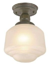 vintage style light, schoolhouse light, flush mount lighting, Home Depot