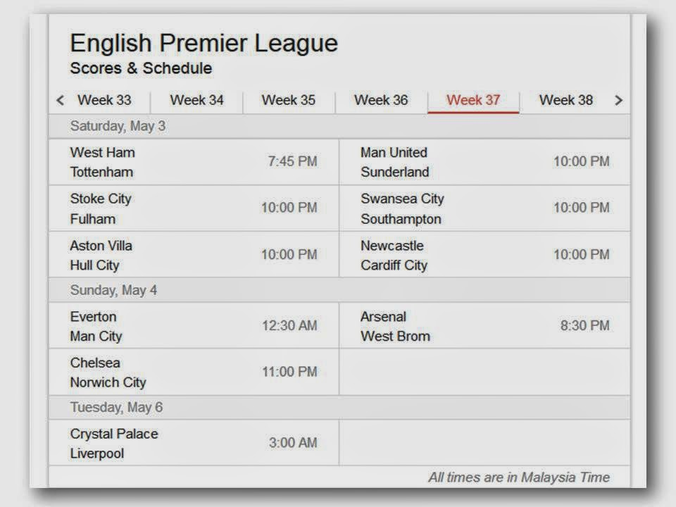 English premier league results and table standings league for English league 3 table