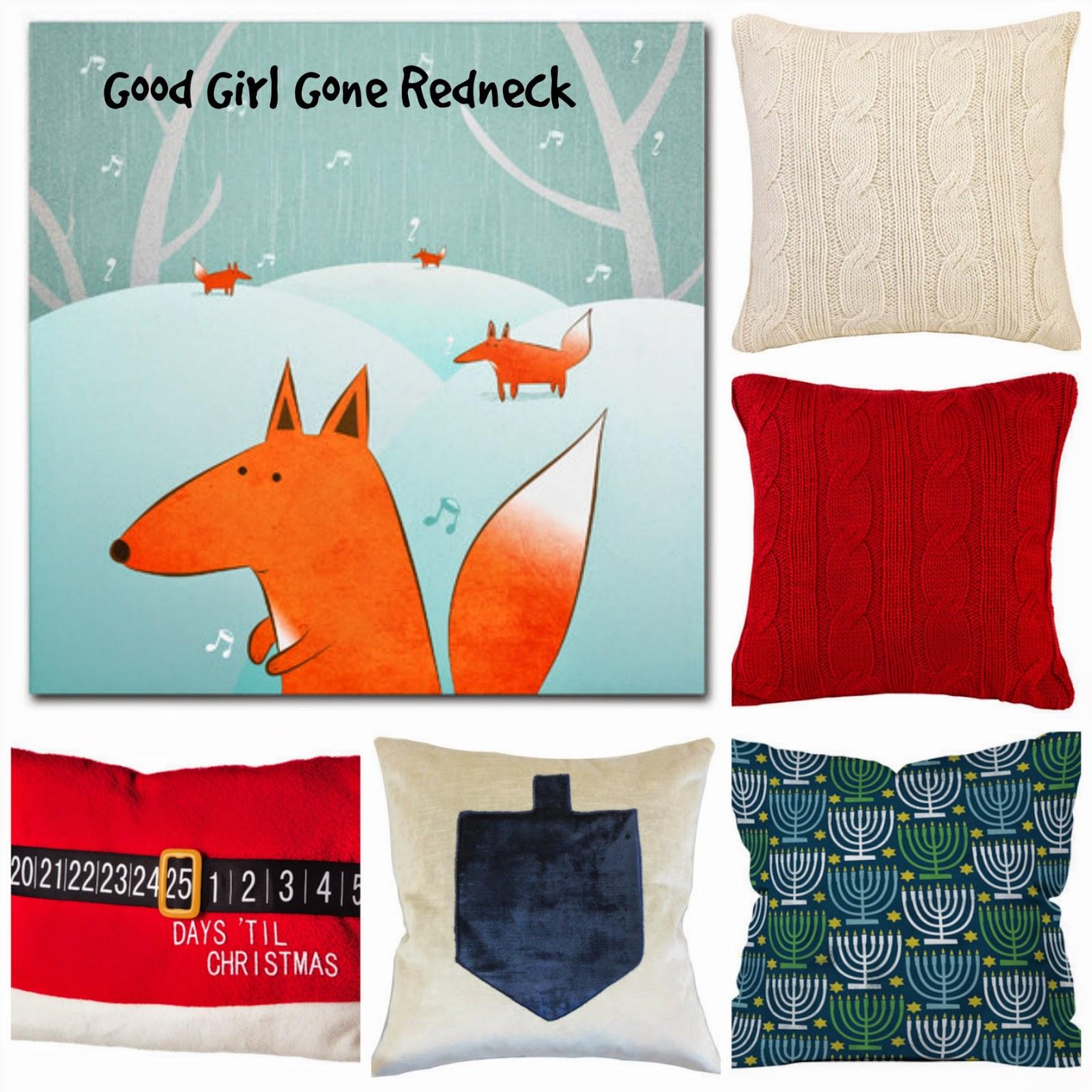 pillows, canvas art, Christmas, Chanukah, decor