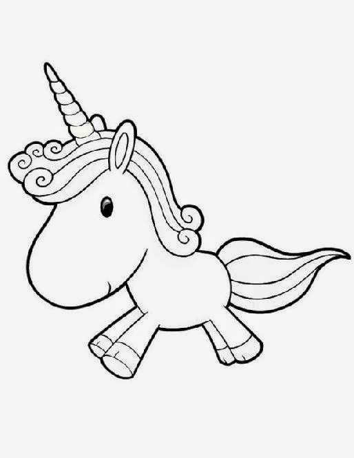 Baby Unicorn Coloring Pages high quality