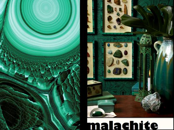 малахит_в_интерьере