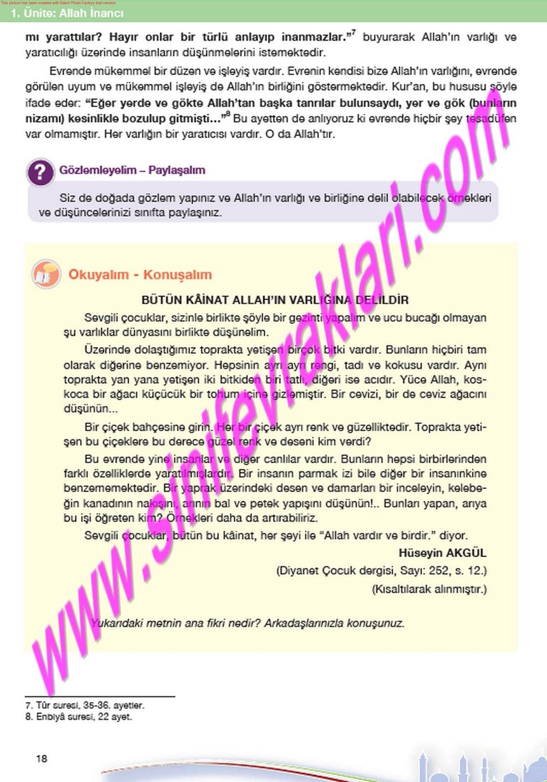 Doku Yayıncılık 7 Sınıf Din Ders Kitabı Cevapları Sayfa 44