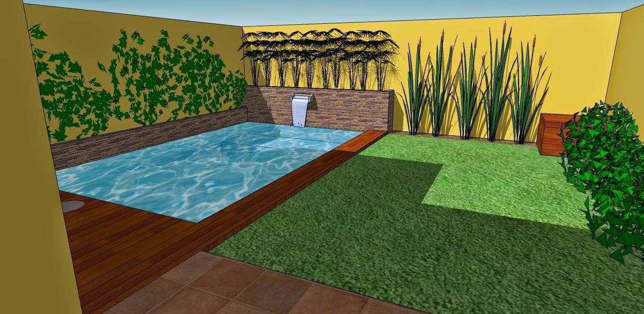 Cc arquitectos proyecto de pileta en jard n peque o en beccar for Piletas en patios chicos