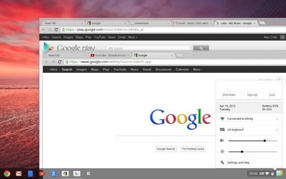 ChromeBook Aura Taskbar