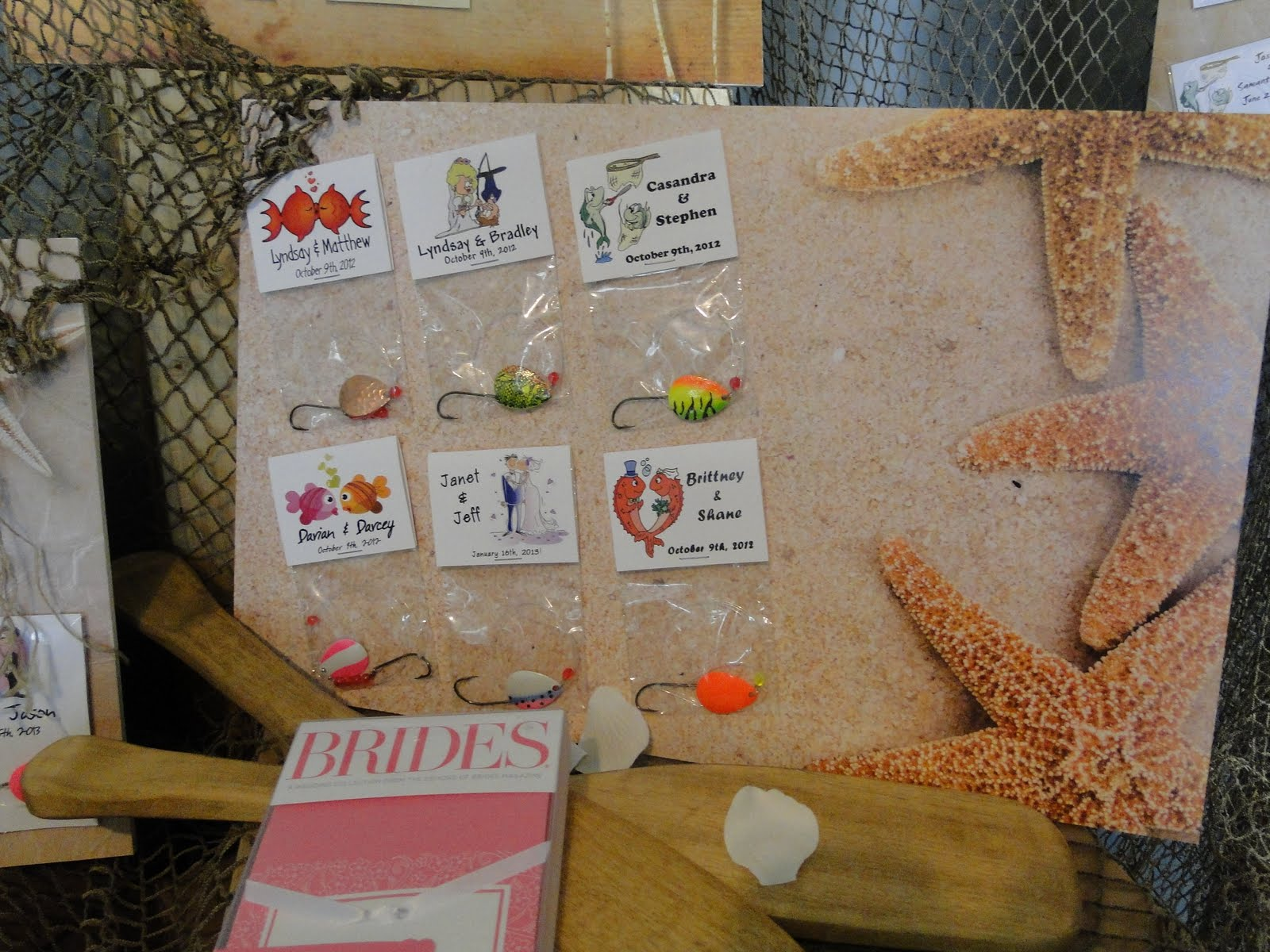 Fishing Themed Wedding Favours