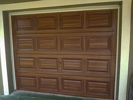 May 2014 everything i create paint garage doors to for How to paint a garage door to look like wood
