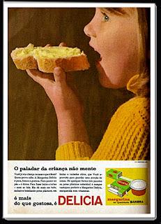 propaganda margarina Delícia - os anos 70; propaganda na década de 70; Brazil in the 70s, história anos 70; Oswaldo Hernandez;