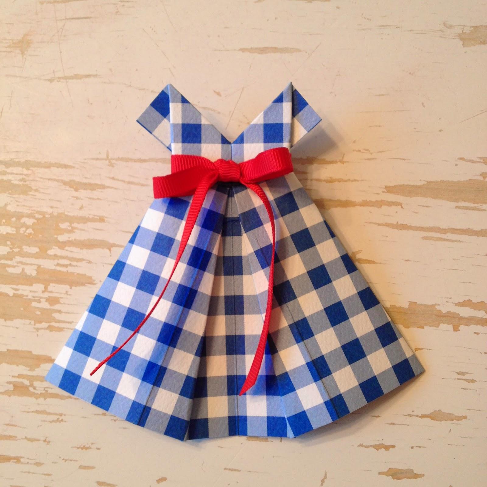 bumbledo origami dress tutorial