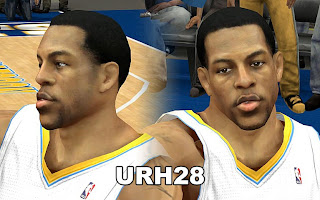 NBA 2K13 Andre Iguodala Cyber Face Download Mods
