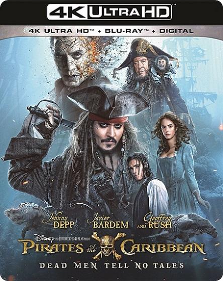 Pirates of the Caribbean Dead Men Tell No Tales 4K (Piratas del Caribe: La venganza de Salazar 4K) (2017) 2160p 4K UltraHD HDR BluRay REMUX 58GB mkv Dual Audio Dolby TrueHD ATMOS 7.1 ch