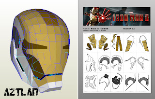 The Rpf Iron Patriot Iron Man Mark Xlii Helmets Pepakura | Web of Book