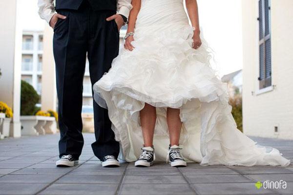 Tênis é lançado pela Converse para noivas modernas