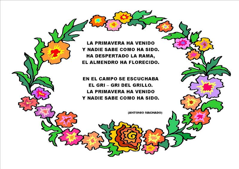 EDUCACIÓN INFANTIL CEIP PADRE MANJON: BIENVENIDA PRIMAVERA
