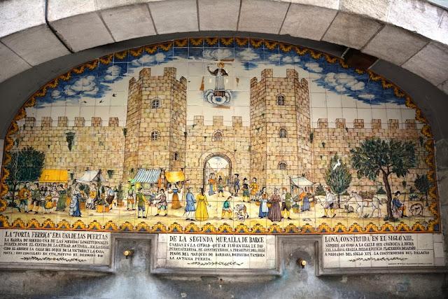 La Rambla Barcelona Mural