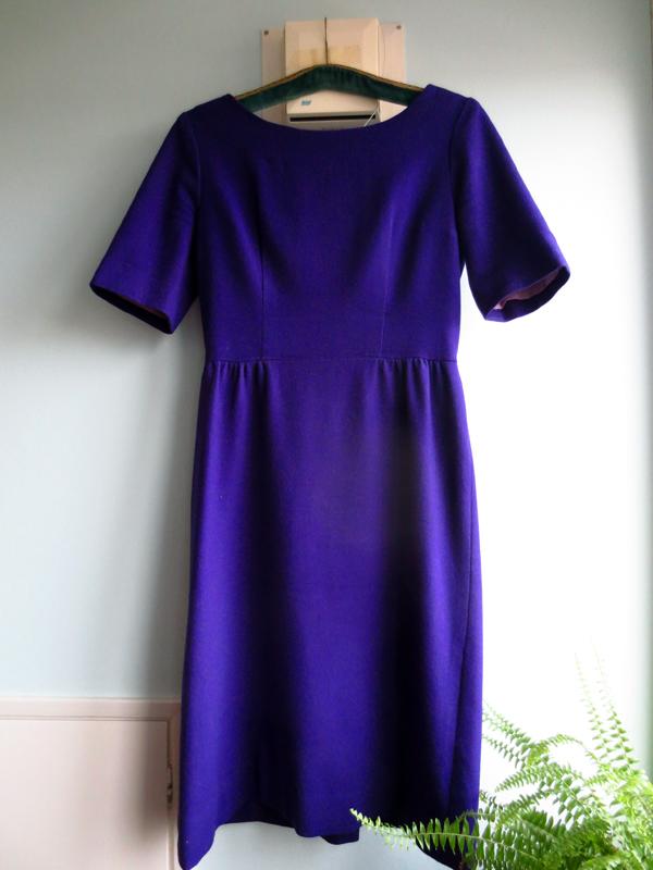 Vintage klänning ull lila