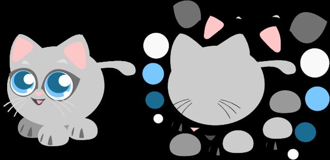 patron gato fieltro