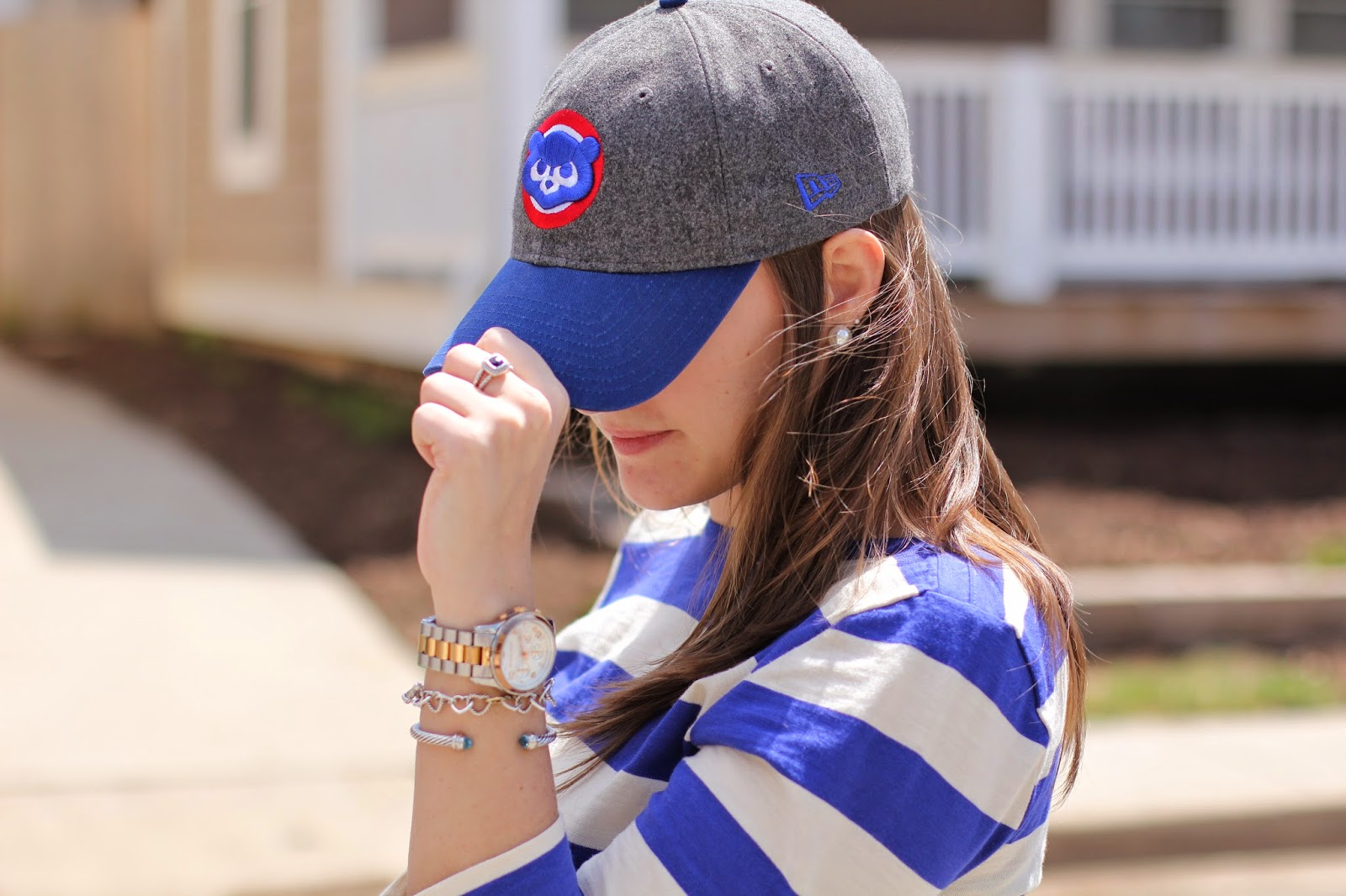 krista robertson, baseball series, jack rogers, what to wear to a baseball game
