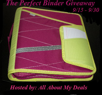 Enter to win the Perfect Binder Giveaway. Ends 9/30