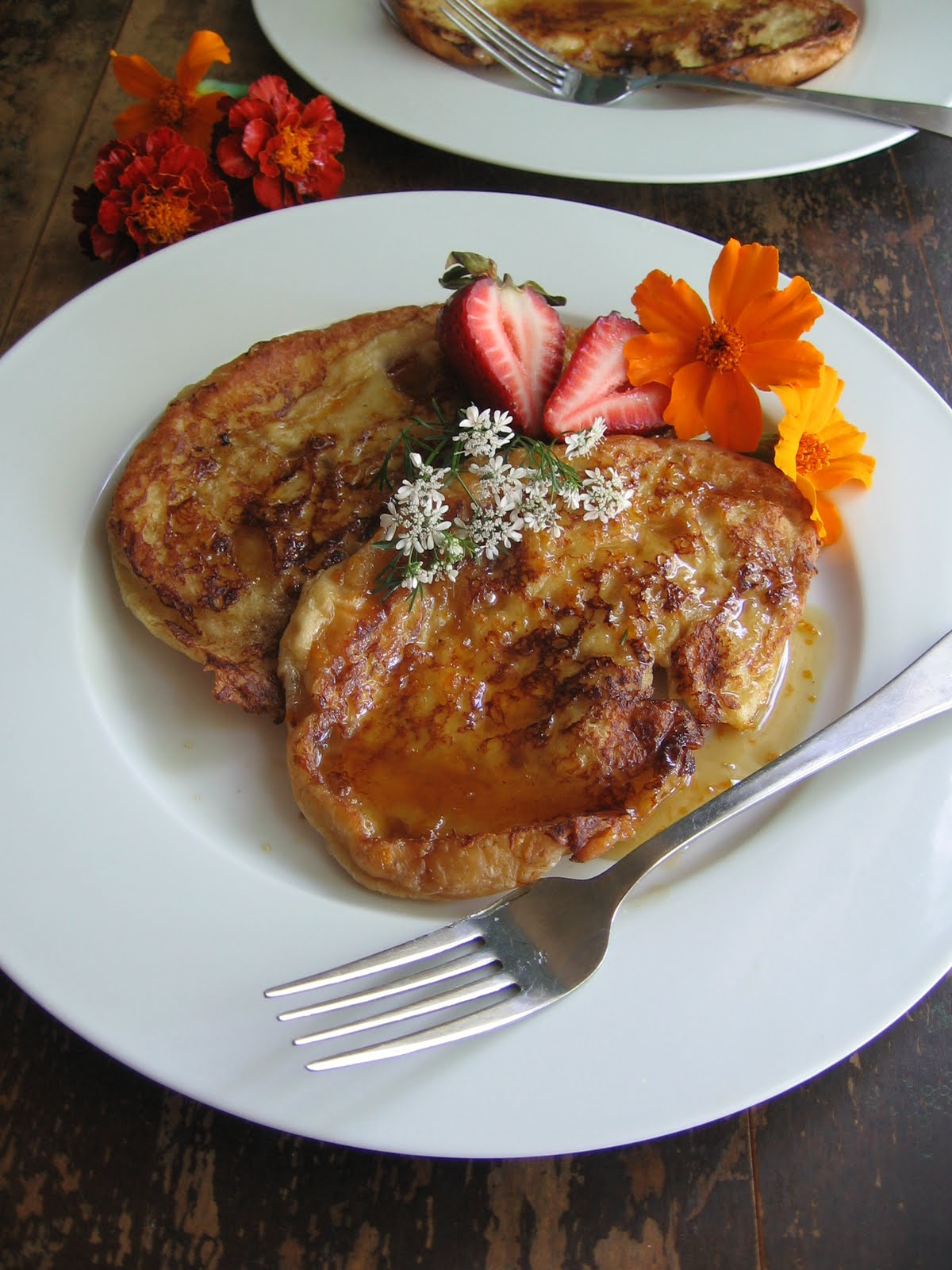 sweetsugarbean: Crazy About It: Croissant French Toast