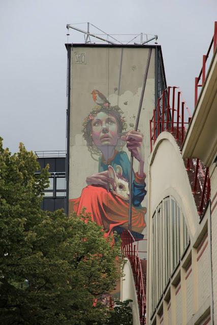 Street Art By Polish Muralist Sainer From Etam Cru In Paris, France. 7