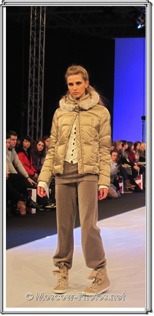 Moscow Model In Winter Sports Suit. Collection Premiere Moscow 2012.