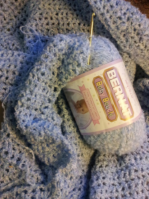 Bernat Baby Boucle Blanket for DIL Desiree