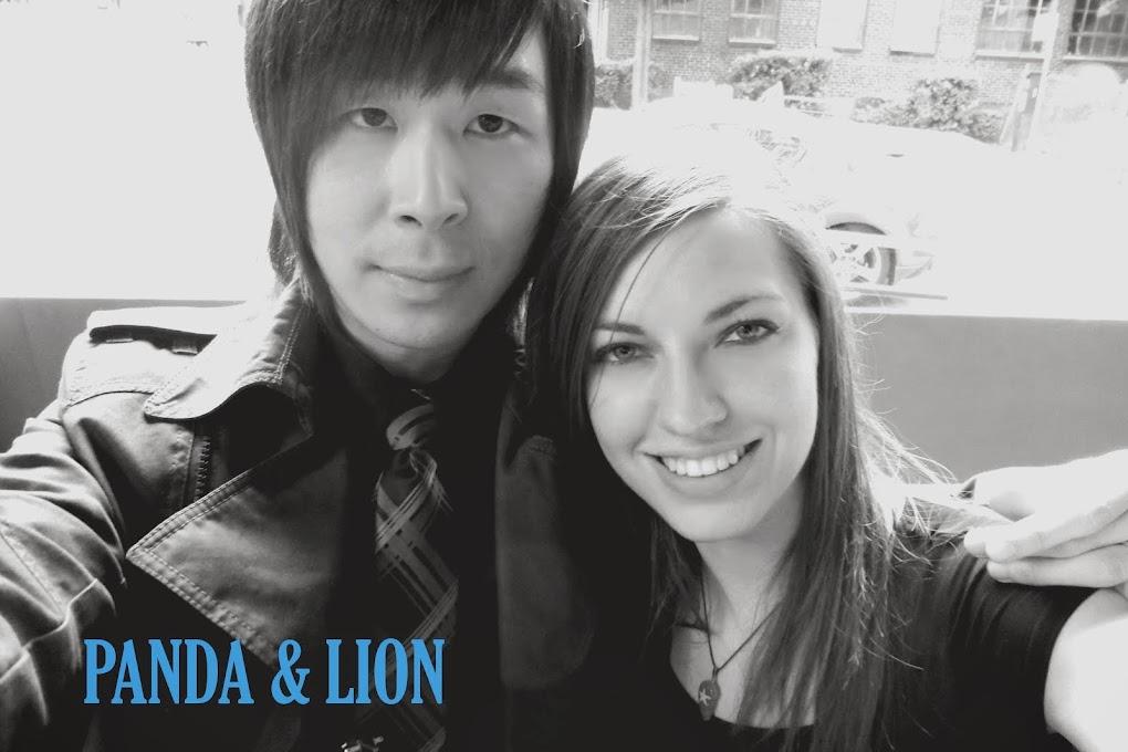 Panda and Lion