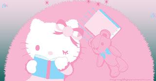 Hello kitty en rosa para imprimir