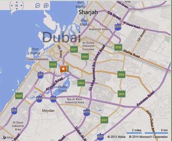 Detail Wonderland Theme and Water Park Dubai Location Map – Dubai Tourist Attractions Map