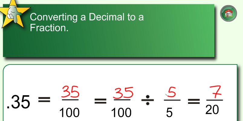 how to turn a non terminating decimal into a fraction