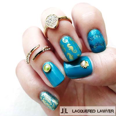 Cerulean Seahorses Nails
