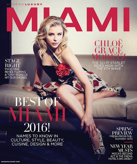 Actress, Model, @ Chloe Grace Moretz - Modern Luxury Magazine Jan / Feb 2016