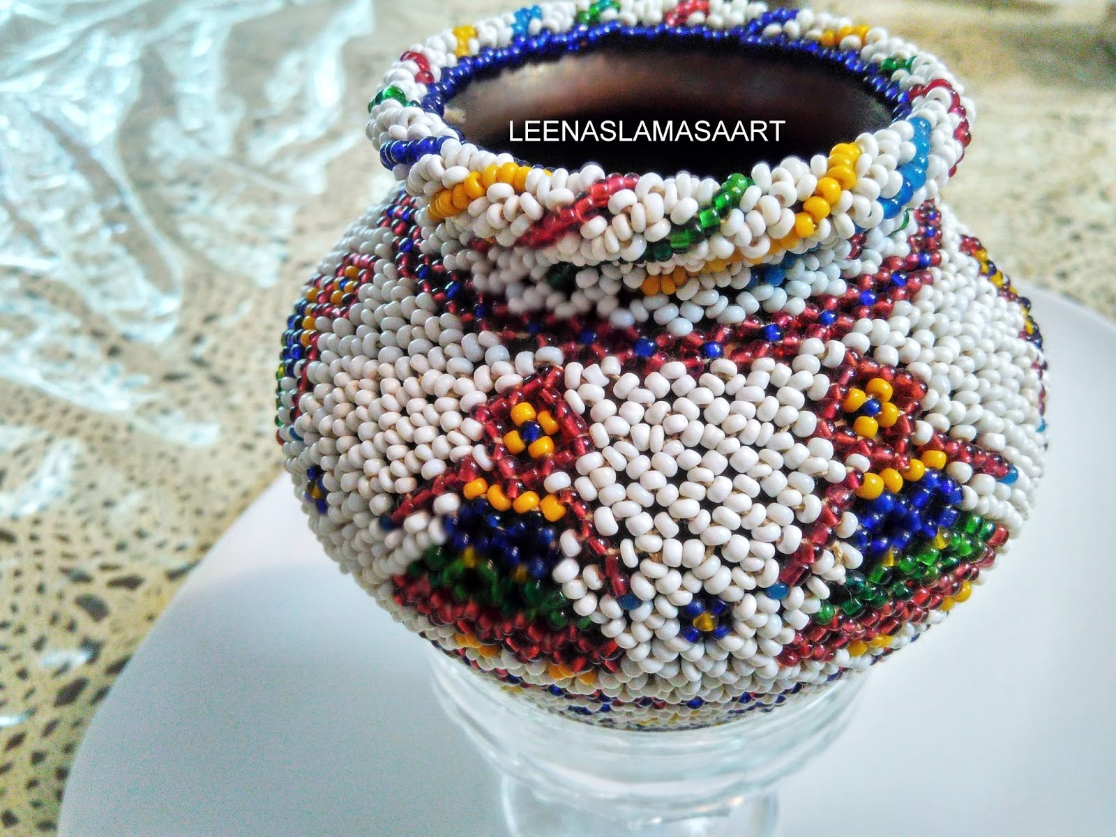 Healthy Recipes Handy Craft Ancient Real Glass Pearl Hand Work