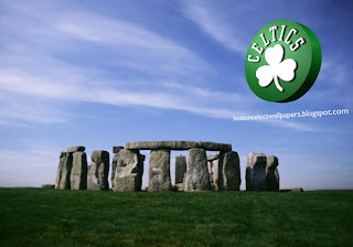 Boston Celtics desktop Wallpapers Celtics Left Logo at Stonehenge Stone Monument Desktop wallpaper