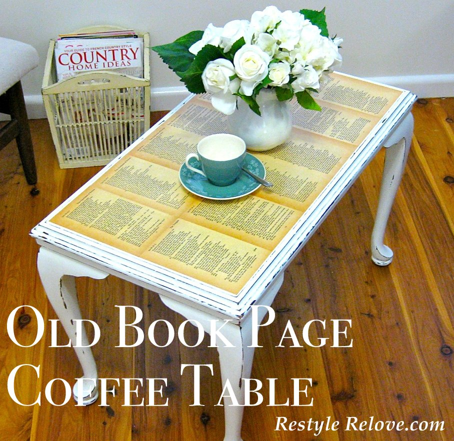 Old Coffee Table Books: Old Book Page Coffee Table
