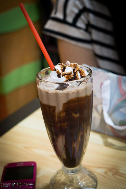 Chocolate Milkshake of Chocolate Spoon