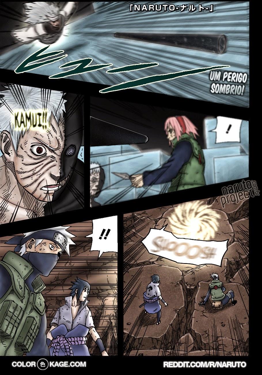 Naruto 675 Colorido Mangá em português leitura online