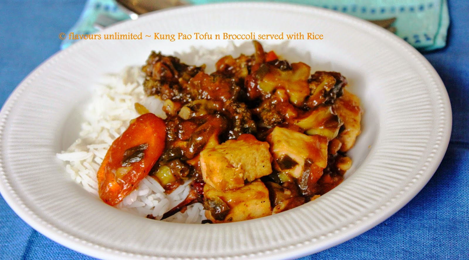 ... flavours to your Lives: Kung Pao Tofu n Broccoli Served with Rice