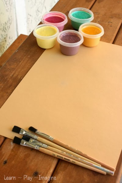 Homemade Paint Recipe - Thanksgiving Sensory Paint
