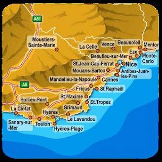 Costa Azzurra mappa