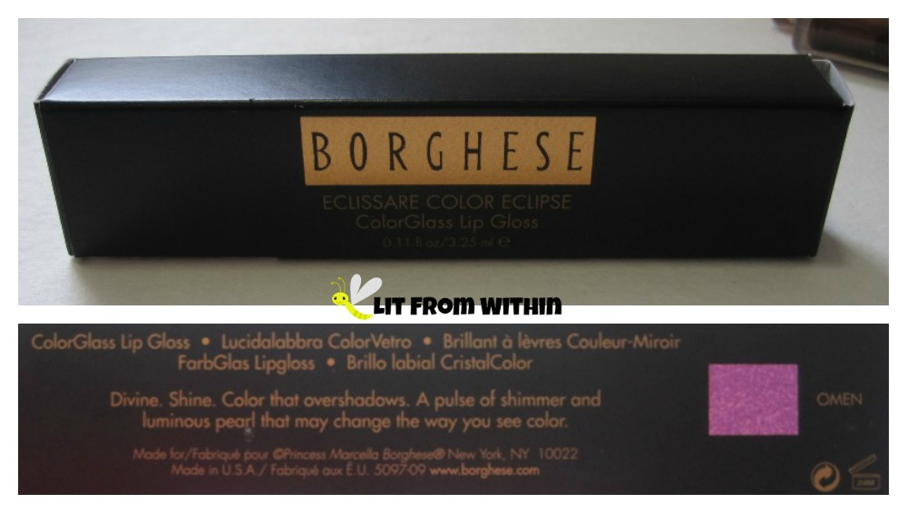 Borghese Eclissare Color Eclipse ColorGlass Lip Gloss packaging