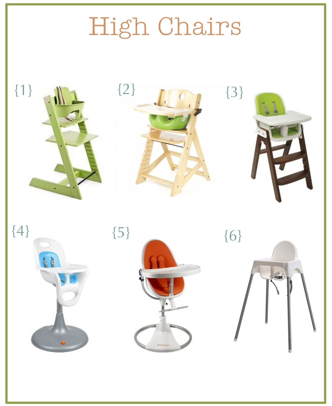 the little green chair High Chairs