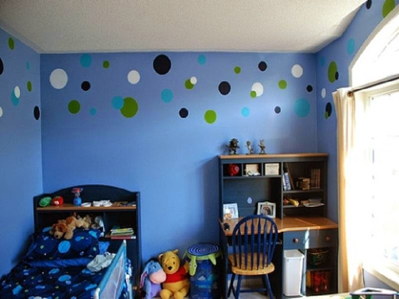 Room More Comfortable Ideas Paint Girls Dark Blue Theme