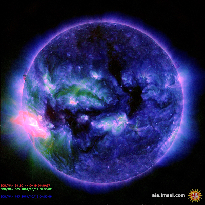 Solar Flare Causes Strong HF Radio Blackout On The Dayside Of Earth 10-19-14