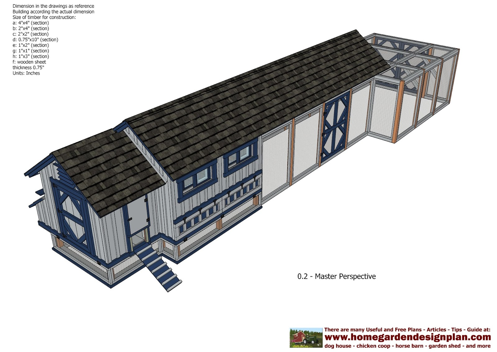 Home garden plans l200 large chicken coop plans how for Free chicken plans
