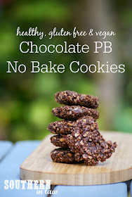Healthy Vegan Chocolate Peanut Butter No Bake Cookies Recipe - healthy, low fat, gluten free, refined sugar free, clean eating friendly, no bake cookies, vegan