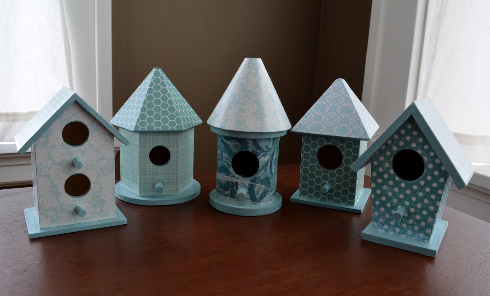 cozy birdhouse | decoupaged wooden birdhouses
