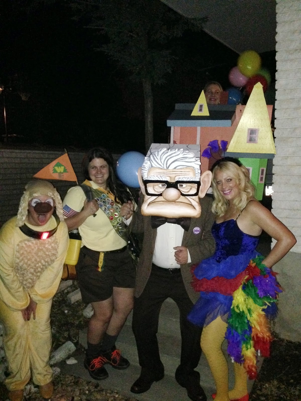 my friends wanted to join in the fun and so in just a weeks time they put together their costumes of the rest of the up characters including the house